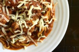 zuccini pasta with meatballs