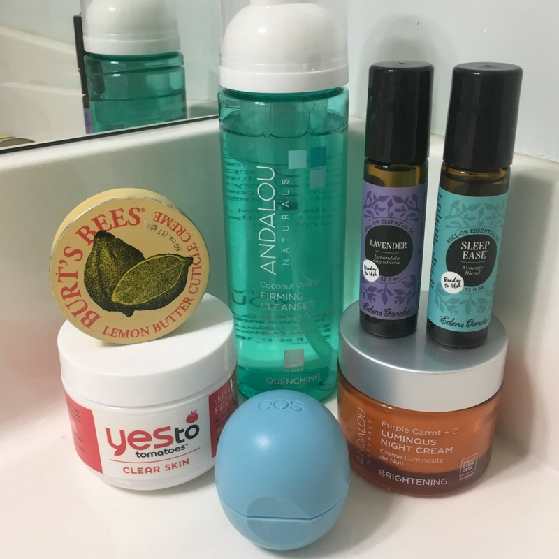 my evening face routine